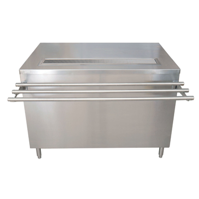 "BK Resources Beverage Self-Serve Counter, 72""W x 30""D x 34-3/4""H, Stainless Steel"