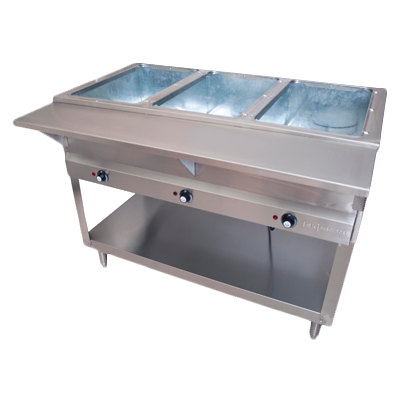 "superior-equipment-supply - BK Resources - BK Resources Serving Counter Steam Table, Electric, 44 3/8""W x 30-1/2""D x 34""H, Stainless Steel"