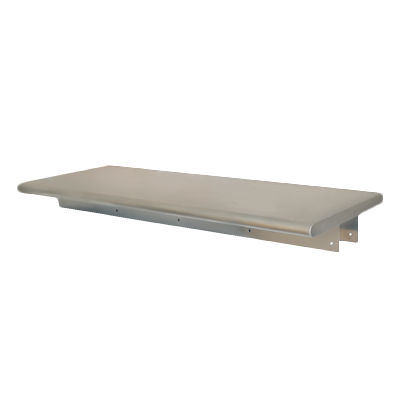 "superior-equipment-supply - BK Resources - BK Resources Wall Mount Shelf 72""W x 18""D Stainless Steel Top"