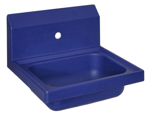 "superior-equipment-supply - BK Resources - BK Resources Antimicrobial 17"" Wide Hand Sink One Faucet Hole"