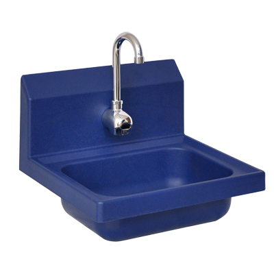 "superior-equipment-supply - BK Resources - BK Resources Antimicrobial 17"" Wide Hand Sink Splash Mount Electronic Faucet Included"