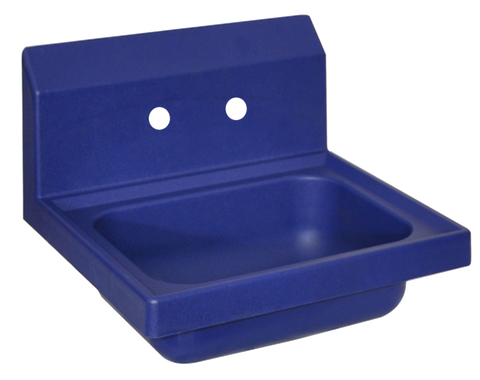 "superior-equipment-supply - BK Resources - BK Resources Antimicrobial 17"" Wide Hand Sink Two Faucet Holes"