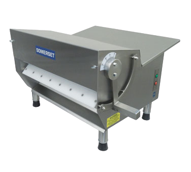 "Somerset Dough Sheeter 15"" Synthetic Rollers 500-600 Pieces/hr Manual Countertop Stainless Steel"