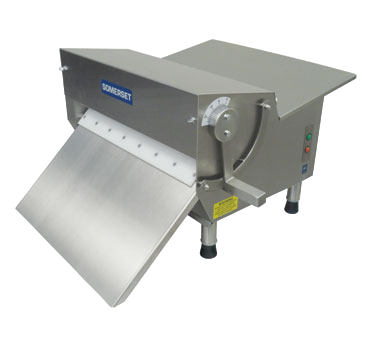 "Somerset Fondant Dough Sheeter W/ Tray Countertop 30"" Synthetic Rollers 500-600 Pieces/hr Manual Stainless Steel"