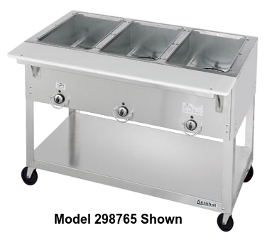 "Duke Aerohot Portable Steamtable Unit 30.38""W x 22.44""D x 34""H Stainless Steel With Carving Board"
