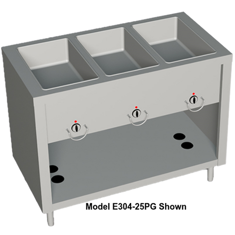 "Duke AeroServ™ Hot Food Gas Unit 46""W x 24.5""D x 36""H Stainless Steel With Adjustable Feet"