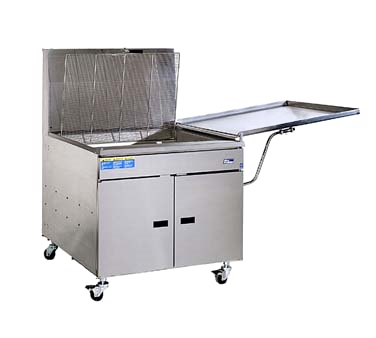 Pitco Stainless Steel Gas Donut Fryer Floor Model 210 lb. Oil Capacity