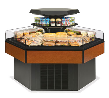 superior-equipment-supply - Federal Industries - Federal Self-Serve Hexagon Specialty Display Island Merchandiser