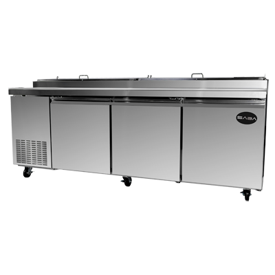 "SABA Pizza Prep Table 91-7/8"" W 24.2 cu.ft 684 Liter Capacity"