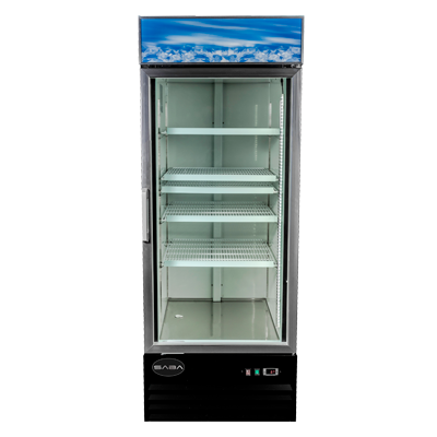 "SABA One-Section Reach-In Refrigerator Merchandiser 28-3/8""W 23 cu.ft."