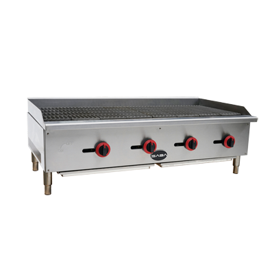"SABA Radiant Gas Charbroiler Countertop 48""W"