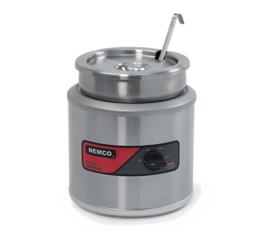 superior-equipment-supply - Nemco Inc - Nemco 11 Quart Stainless Steam Round Warmer 3.4 AMPS