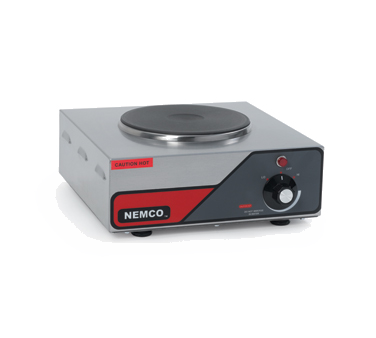 superior-equipment-supply - Nemco Inc - Nemco Single Burner Stainless Steel Hot Plate