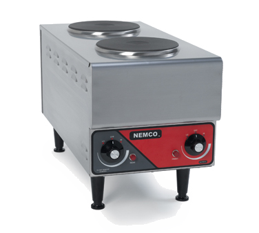 Nemco Two Burner Stainless Steel Hot Plate