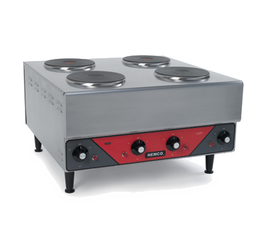 Nemco Four Burner Stainless Steel Hot Plate