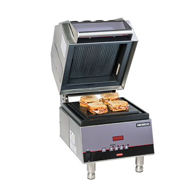 "superior-equipment-supply - Nemco Inc - Nemco Panini Sandwich Press 10-1/2"" x 10-1/2""Non-Stick Aluminum"