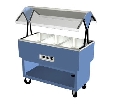 "Duke EconoMate™ Portable Hot Food Buffet 44.38""W x 33.38""H x 22.5""D Stainless Steel Acrylic Plastic With 5""Casters"