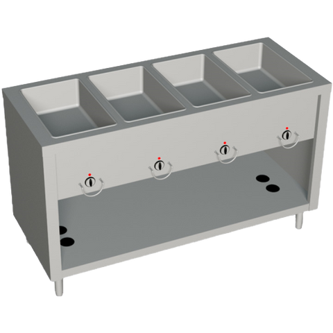 "Duke AeroServ™ Hot Food Gas Unit 60""W x 24.5""D x 36""H Stainless Steel With Adjustable Feet"
