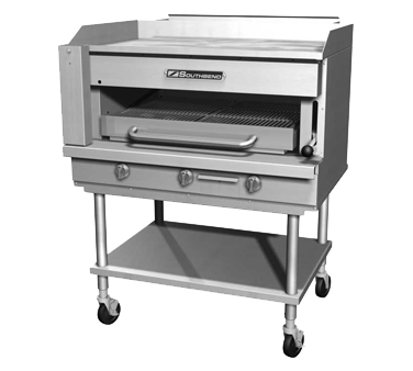 "Southbend Stainless Steel Gas 32"" Wide Broiler/Griddle with Paddle Release and Burner Controls"
