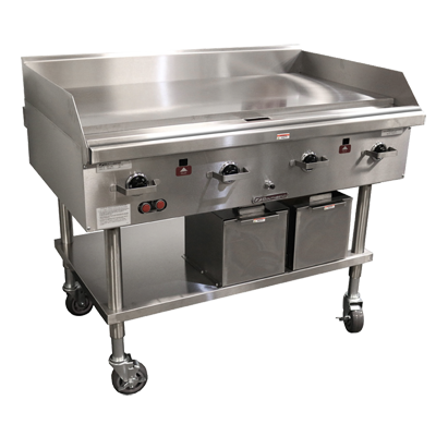 "Southbend Stainless Steel Gas 60"" Wide Countertop Griddle with 1"" Thick Steel Plate and Thermostatic Controls"