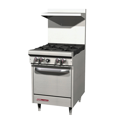 "Southbend Stainless Steel Gas 24"" Wide Restaurant Range with Cabinet Base and (4) Open Burners"