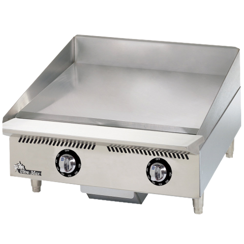 "Star Ultra-Max® Griddle Countertop Gas 24"" W x 24"" D Embedded Thermostat Stainless Steel"