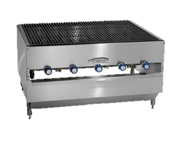 "Imperial Stainless Steel 48"" Wide x 27"" Deep Gas Chicken Charbroiler"