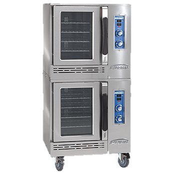 "superior-equipment-supply - Imperial - Imperial Stainless Steel 30"" Wide Double Deck Electric Convection Oven"
