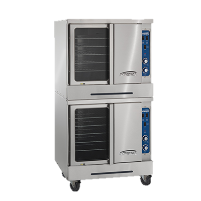 "superior-equipment-supply - Imperial - Imperial Stainless Steel Double Deck 38"" Wide Gas Convection Oven"