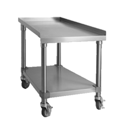 "Imperial Stainless Steel 30"" Wide Steakhouse Equipment Stand"