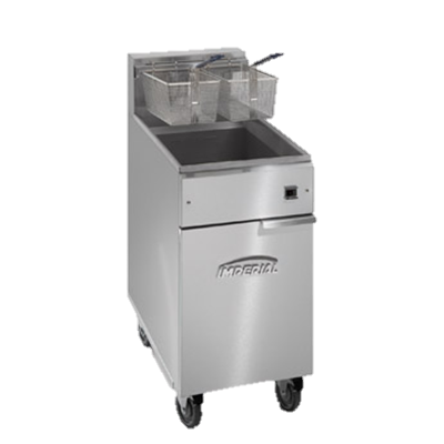 "superior-equipment-supply - Imperial - Imperial Stainless Steel 15.5"" Wide Electric Floor Model Fryer"