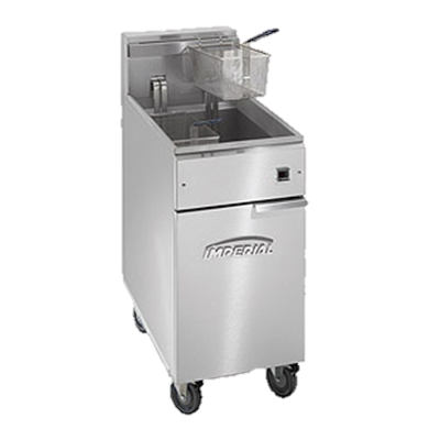 "superior-equipment-supply - Imperial - Imperial Stainless Steel 15.5"" Wide 14.0 kW Electric Floor Model Fryer"