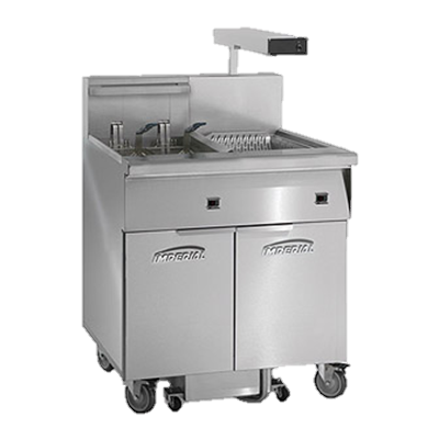 "superior-equipment-supply - Imperial - Imperial Stainless Steel Frypot, Front, and Sides 31"" Electric Floor Fryer"