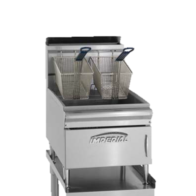 "Imperial Stainless Steel 15.5"" Wide Gas Countertop Fryer"