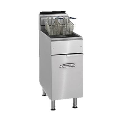 "superior-equipment-supply - Imperial - Imperial Stainless Steel 19.5"" Wide Gas Floor Model Fryer"
