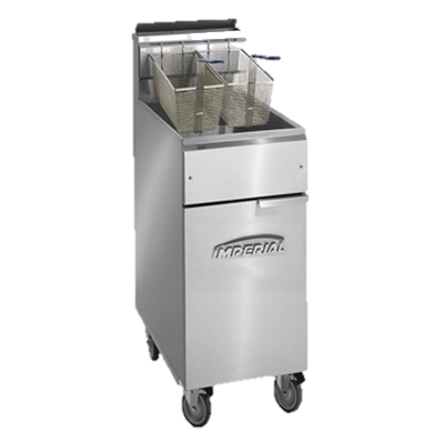 "superior-equipment-supply - Imperial - Imperial Stainless Steel 40 lb. Capacity 15.5"" Wide Gas Floor Fryer"