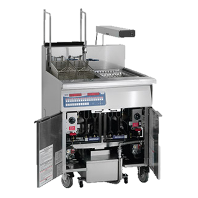 "superior-equipment-supply - Imperial - Imperial Stainless Steel ETL-Sanitation 31"" Wide Gas Floor Fryer"