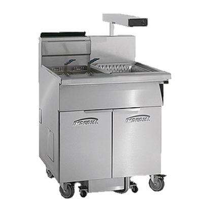 "superior-equipment-supply - Imperial - Imperial Stainless Steel Two Battery  Built-In-Filter System 46.5"" Wide Gas Fryer"