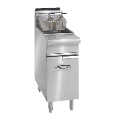 "superior-equipment-supply - Imperial - Imperial Stainless Steel 50 lb. Capacity 15.5"" Wide Open Pot Range Match Fryer Gas Fryer"