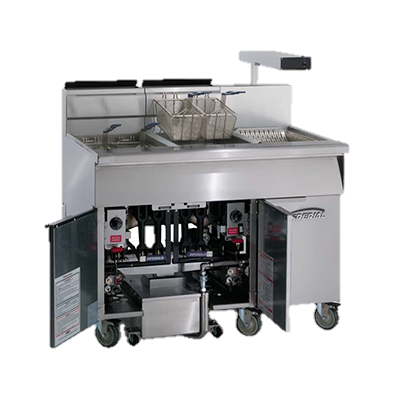 "superior-equipment-supply - Imperial - Imperial Stainless Steel Two Battery 58.5"" Wide Gas Floor Fryer"
