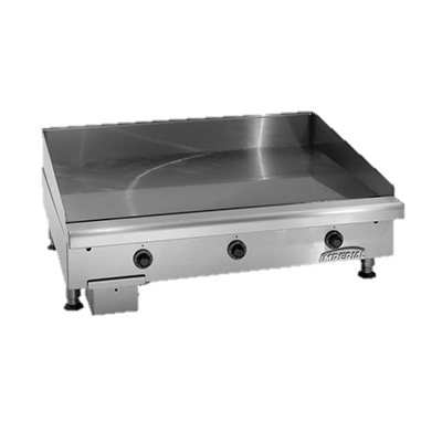 "superior-equipment-supply - Imperial - Imperial Stainless Steel Solid State Thermostat 24"" Wide Gas Countertop Griddle"