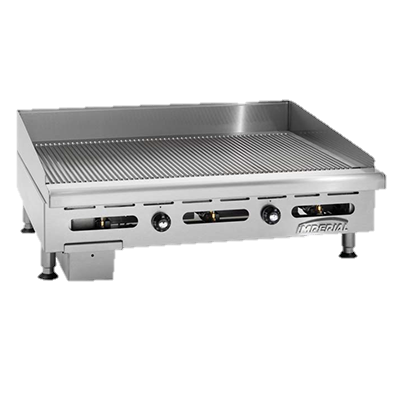 "superior-equipment-supply - Imperial - Imperial Stainless Steel 36"" Wide Gas Countertop Griddle"