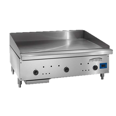 "superior-equipment-supply - Imperial - Imperial Stainless Steel Snap Action Thermostat 24"" Wide Gas Countertop Griddle"