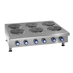 "superior-equipment-supply - Imperial - Imperial Stainless Steel 10 Round Plate Elements 60"" Wide Electric Countertop Hotplate"