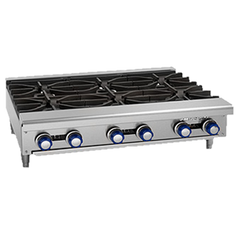 "superior-equipment-supply - Imperial - Imperial Stainless Steel One Burner 12"" Wide Gas Hotplate"