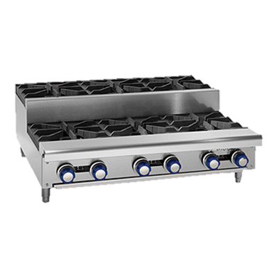 "Imperial Stainless Steel Four Step Up Open Gas Burners 24"" Wide Hotplate"