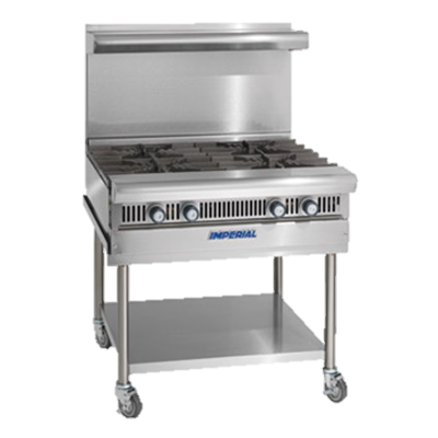 "superior-equipment-supply - Imperial - Imperial Stainless Steel 18"" Wide Modular Heavy Duty Gas Range"