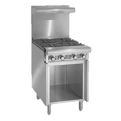 "superior-equipment-supply - Imperial - Imperial Stainless Steel Two Burner Add-A-Unit 12"" Wide Heavy Duty Gas Range"