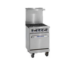 "superior-equipment-supply - Imperial - Imperial Stainless Steel Thermostatic Controls 24"" Wide Griddle Electric Range"
