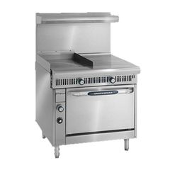 "superior-equipment-supply - Imperial - Imperial Stainless Steel Griddle & Hot Top Convection Oven 36"" Wide Heavy Duty Gas Range"